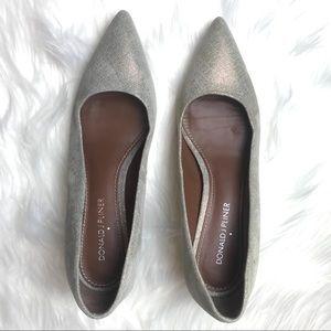 Donald J. Pliner Franc metallic kitten heel pumps